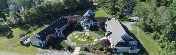 Falmouth Jewish Congregation aerial view
