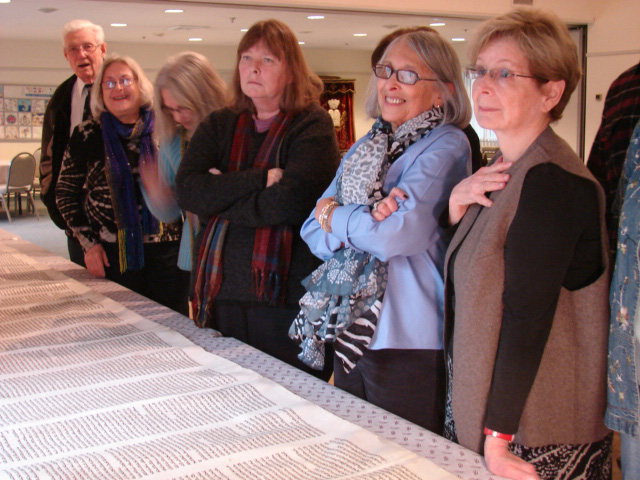 Shoah Scroll 1240 Sofer visit January 2013